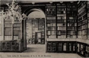 biblioteca accademia scienza lettere arti modena