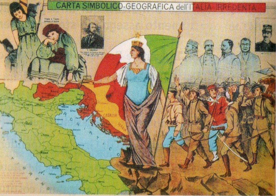 cartina italia irredenta