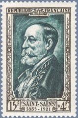 saint-saens francobollo