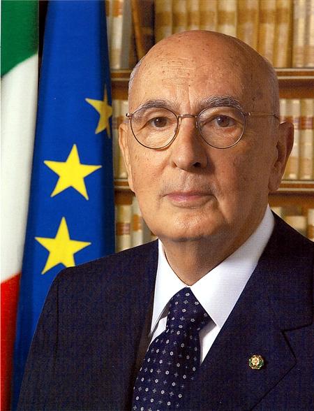 foto ufficiale del Presidente della Repubblica Giorgio Napolitano