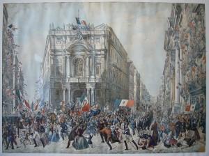 Napoli_Castel_Nuovo_museo_civico_-_ingresso_di_Garibaldi_a_Napoli_-_Wenzel